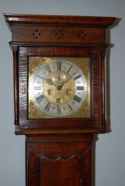 Brass square dial by Francis Robinson