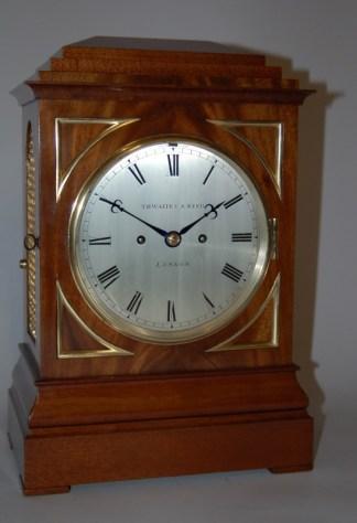 Thwaites and Reed Mahogany Bracket Clock