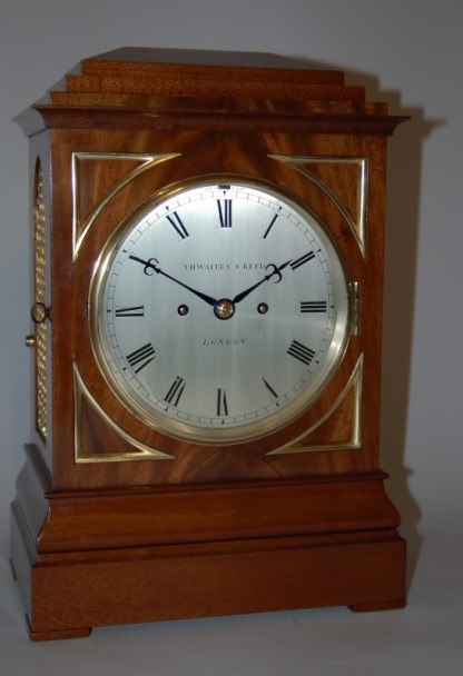 Thwaites and Reed Mahogany Bracket Clock