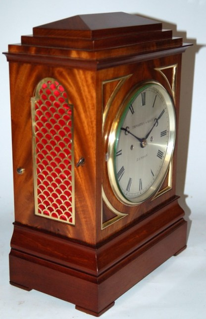 Lovely 3/4 view of Fusee Thwaites and Reed Bracket clock