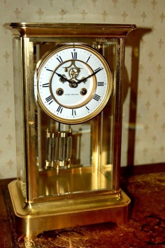 Four glass clock