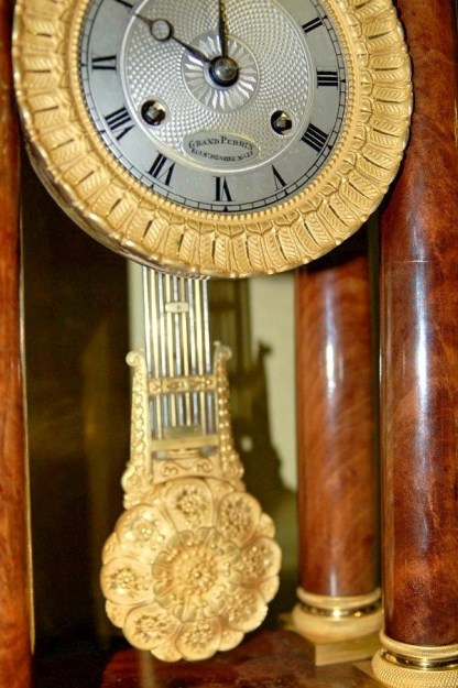 close up portico clock