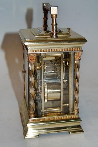 Side view carriage clock