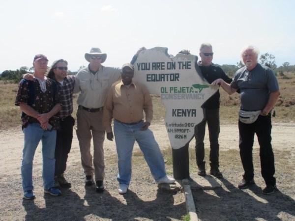 Equator mark at Conservancy Kenya Safari