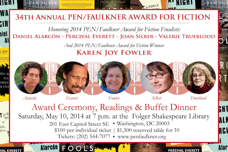 34th Annual PEN/Faulkner Award for Fiction Ceremony and Dinner - peoplewhowrite