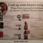 winn-Dixie supermarket ad - cook up some history