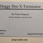 Doggy Doo X-Terminator business card