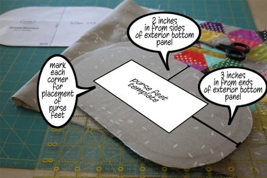 purse feet template