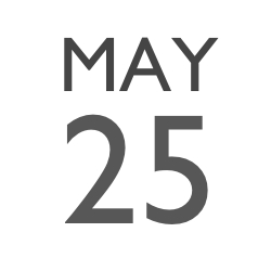HL MAY 25