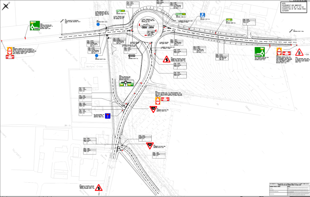 Planned A702 roundabout layout © Taylor Wimpey