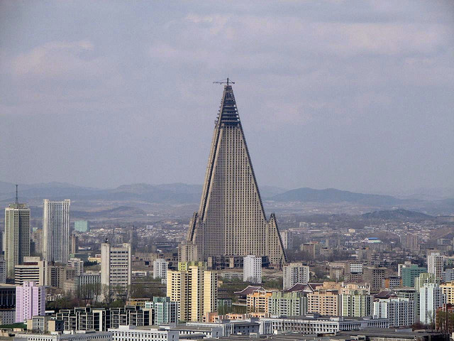 Big and scary... nicknamed the Hotel of Doom, Pyongyang's Ryugyong Hotel