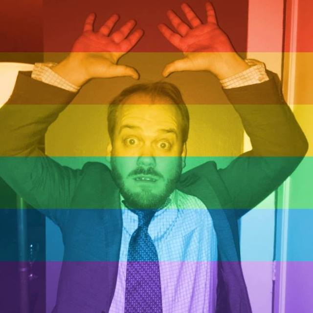 No, I promise, I'm cool... I'm totally all about gay rights, I swear! Photo: Aaron Phillips