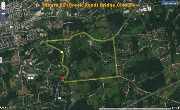 Route 82 (Creek Road) Bridge Closure.JPG