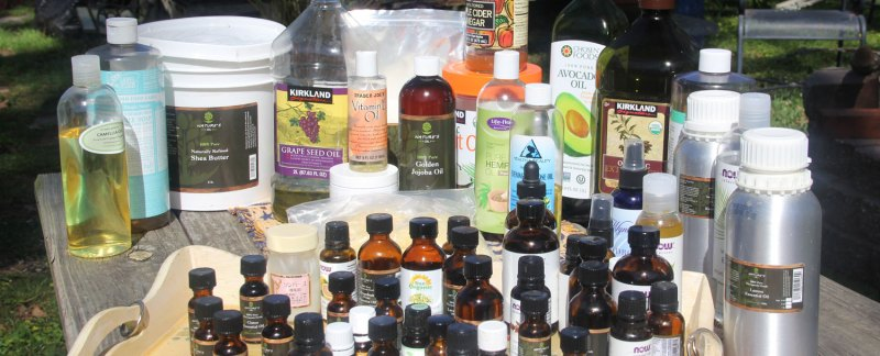 Essential and carrier oils for DIY skin care