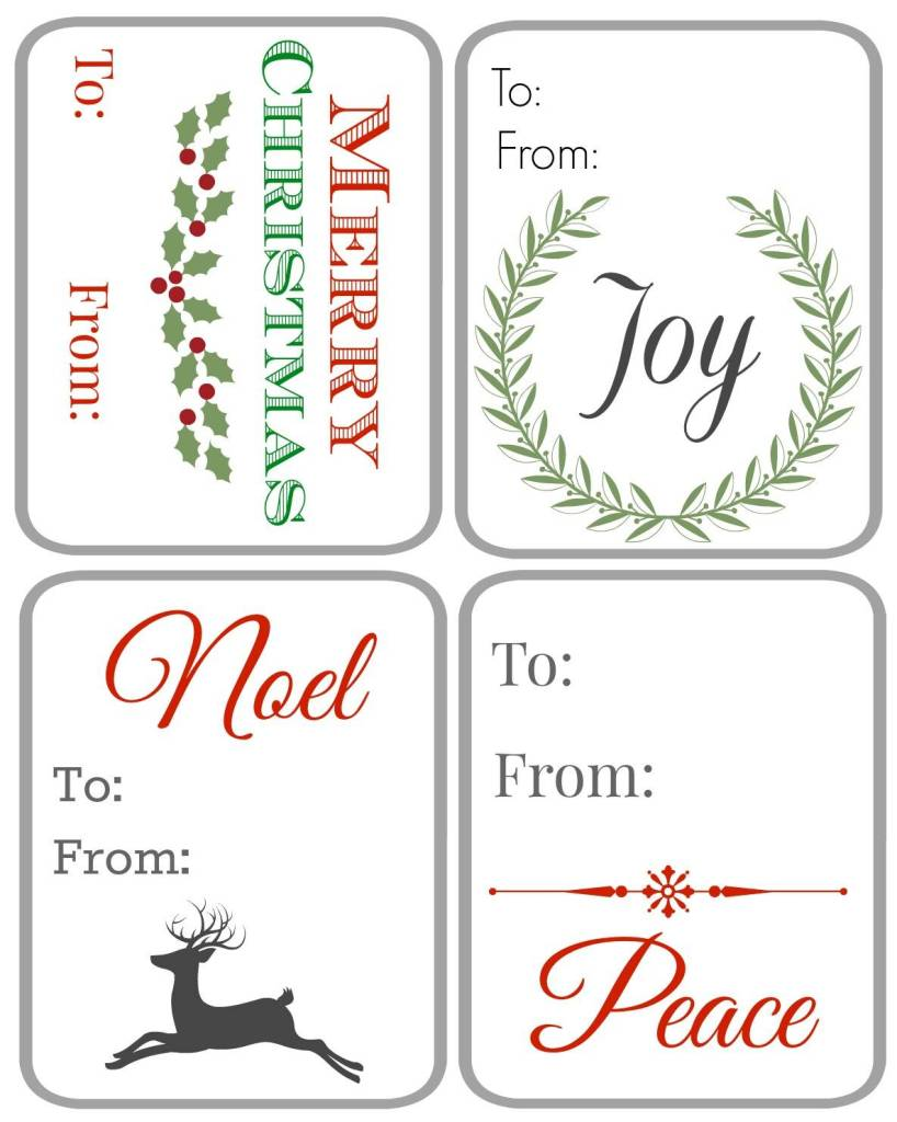 Christmas Tags Green and Red