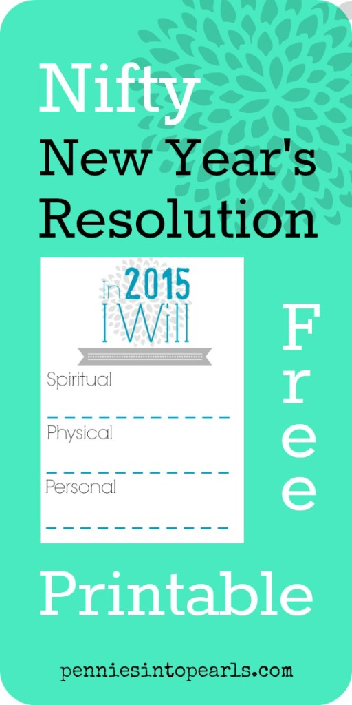 New Year's Resolution Printable Pin