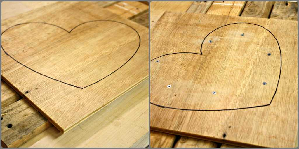 Pallet Hearts Trace and Screw