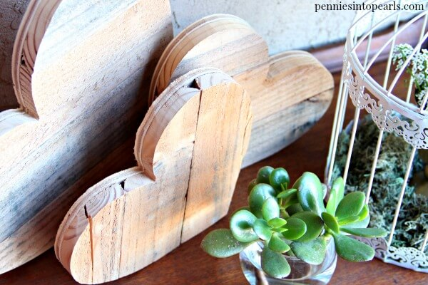Pallet Wood Hearts Step By Step Tutorial To Make In