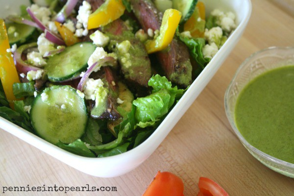 Grilled Steak Salad with Cilantro Lime Dressing