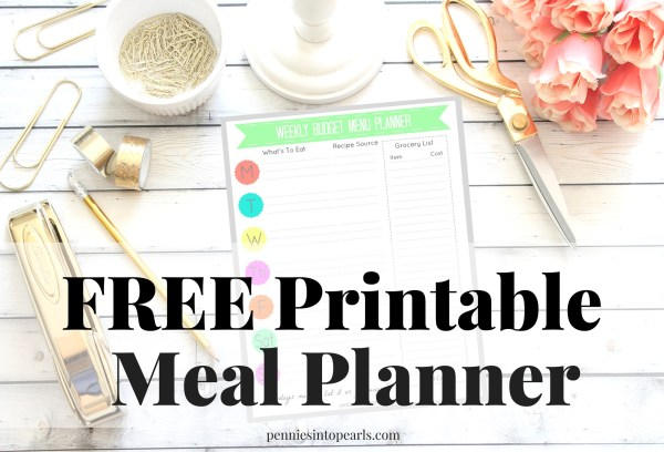 FREE Printable Meal Planner that could save you over $500 on your groceries!! Want to know how to save money on groceries today? Download for FREE this Weekly Meal Planner to simplify your meal prep!