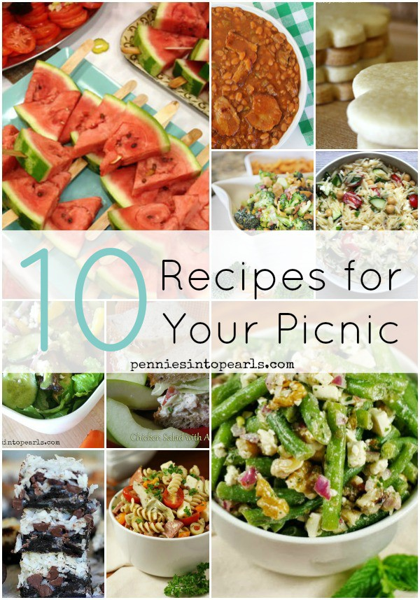 Picnic Food Recipes - penniesintopearls.com - The perfect recipes for your next picnic or trip to the beach. Beach food favorites and the best picnic food picks.