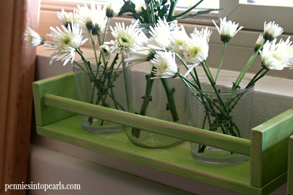 Repurposed IKEA Spice Rack - penniesintopearls.com - Great idea on how to repurpose IKEA $4 spice rack. Perfect for the kitchen or any other room.