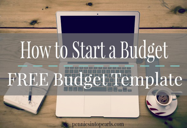 starting your pretty penny budget free budget template