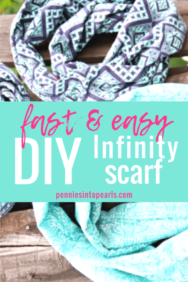 Making your own DIY infinity scarf is so simple and really fast...it seriously did only take me 10 minutes!  I love this easy to follow infinity scarf tutorial!  It was super simple and fun to make with my kids!  This infinity scarf also makes such a perfect homemade inexpensive gift!