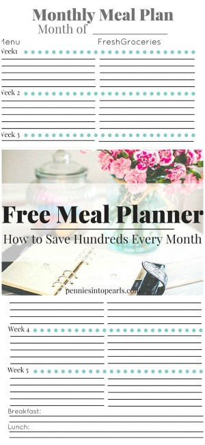 Monthly Meal Planning FREE printable. Easy steps to cut your grocery bill in half by simply starting monthly meal planning. Three reasons I can not stop talking about meal planning!