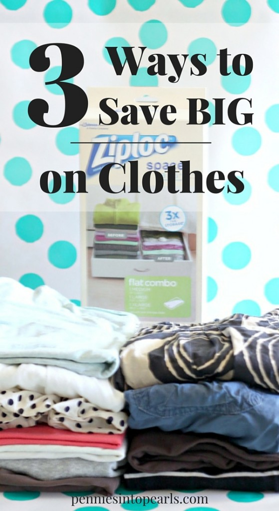 3 Ways to Save Big on Clothes - I love tip #3. These 3 tips are really easy ways to save money on clothes!