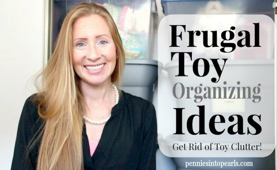 Here are some budget friendly and super easy tips for toy organization. Our kid's toys were out of control! See how we fixed that problem with this easy way how to get organized! Easy How To Organize tips!