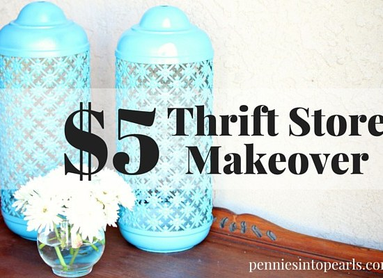 Thrift Store Makeover project for only $5. I love how this thrift store makeover turned out and for so cheap! Learn tips on how to transform thrift store finds into something fresh and new. You will never know it came from a thrift store!
