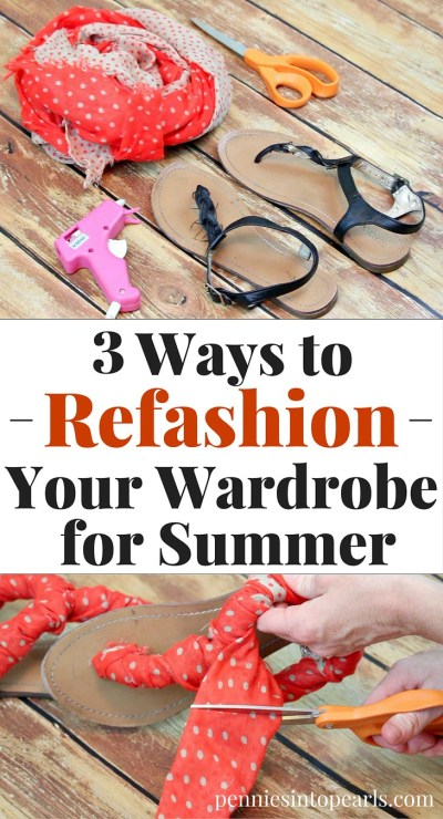 3 Easy and cheap ways to refashion for $0! FREE refashion ideas. Summer Refashion Tips to transform your winter wardrobe into summers favorite outfits.