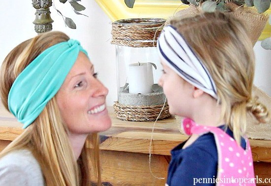 Easy tutorial for DIY turban headbands. How to make turban headbands for only $1 and in under 10 minutes!