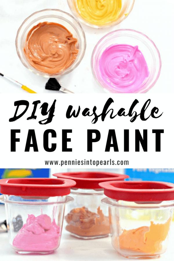 The easiest homemade face paint for adults!  If you're in a pinch at Halloween, quickly whip up this easy DIY face paint recipe using ingredients you already have around your house!