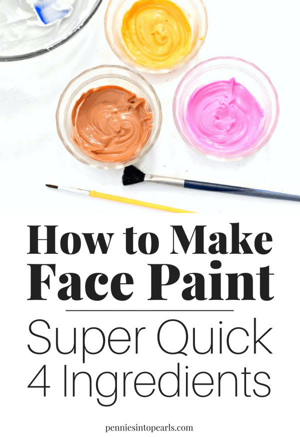 I can't believe how easy it is to figure out how to make face paint! All it takes is four ingredients that you already have at home, mixed together in a bowl, and done! If you want to know how to make face paint, this is the easiest way possible!