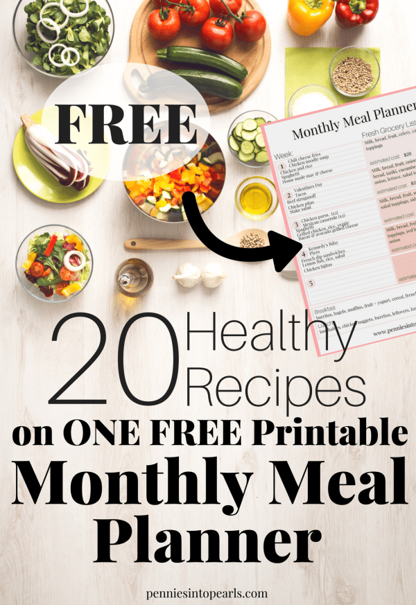 A Healthy Meal Plan That Includes FREE PRINTABLES With Every Recipe You Need For An Entire