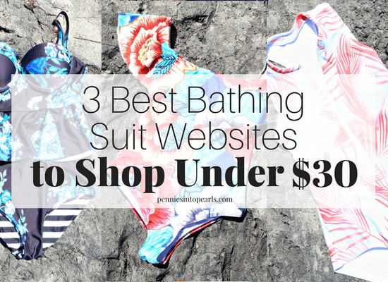 The 3 best places to find high quality bathing suits that aren't see through, that hold up at the beach, and all cost under $30 shipped to your front door! Plus, tips on how to make pick out the perfect bathing suit for your body type.