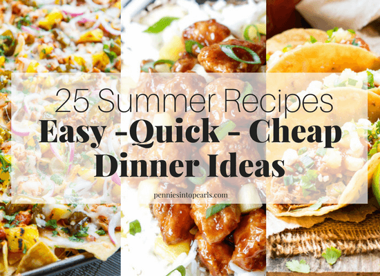 Easy summer dinner recipes that don't heat up your house, that are cheap dinner recipes, and don't take all afternoon to make, is what all of us mom's hope for! Here are 20 easy summer dinner recipes that will be prepared on the table tonight in less than 20 minutes!
