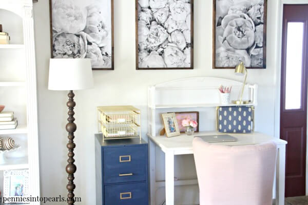 These office makeover ideas will leave you with inspiration, motivation, encouragement, and tips on how to create an elegant office makeover on a budget. You can create a drastic office makeover of your own in just one weekend! Don't wait any longer to get started on your office makeover on a budget!