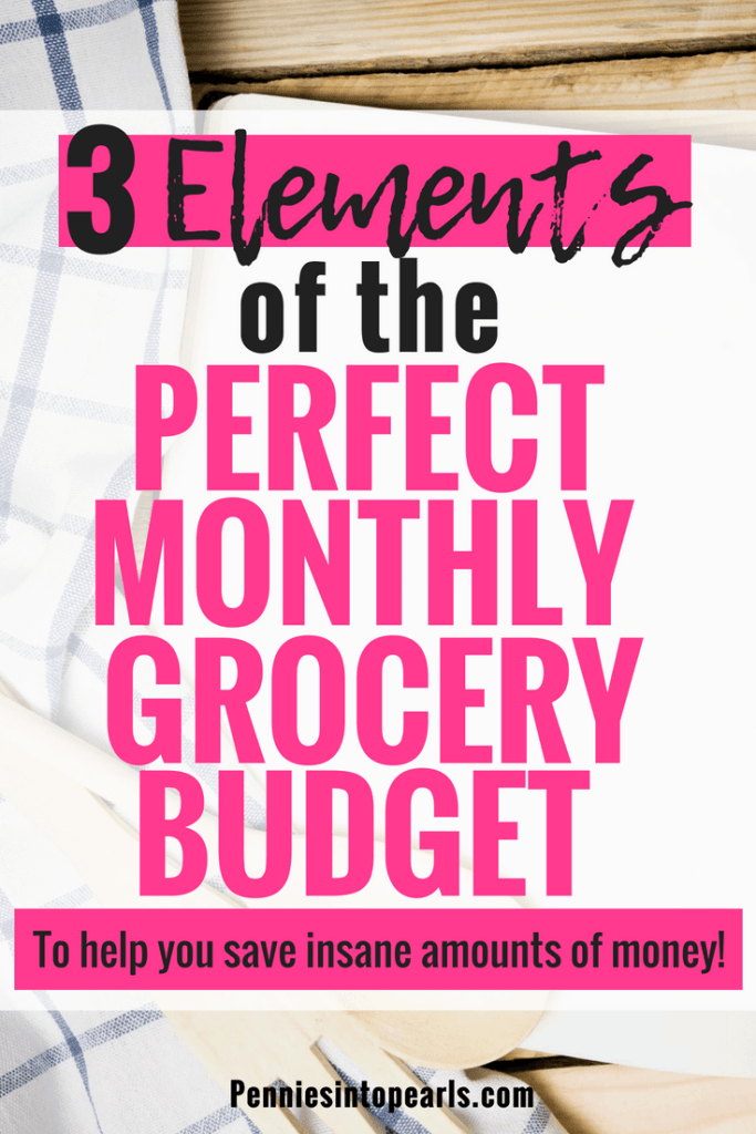 What would your monthly grocery budget look like if you spent it all in one day? Creating a monthly grocery budget strategy SAVES YOU THOUSANDS OF DOLLARS each year because you will be eliminating unplanned trips to the store to pay full price which also eliminates impulse purchases at check out!