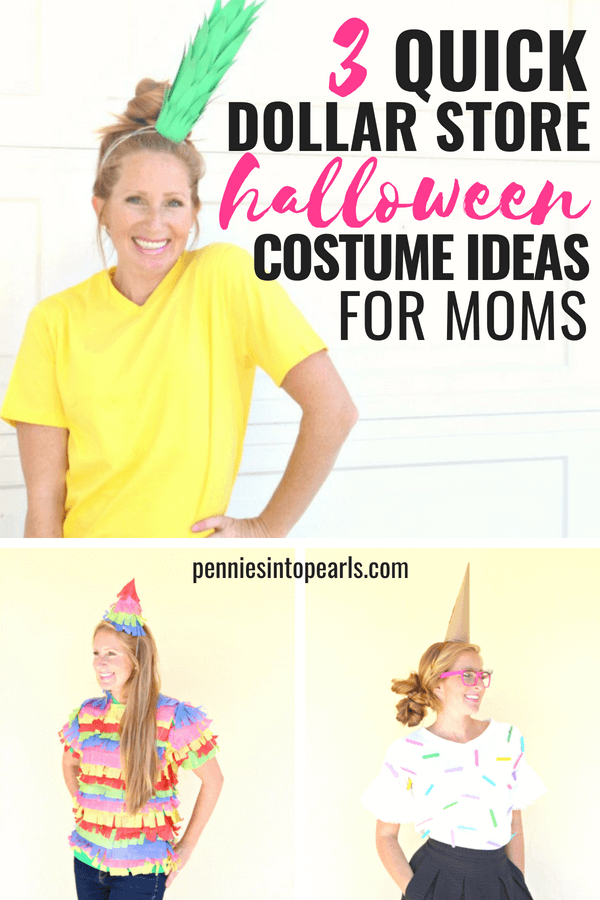 Costume ideas for moms are always a last minute thought! We forget about ourselves all of the time and Halloween is no exception.Which is why I wanted to share three super quick costume ideas for moms and the bonus is if you don't already have the supplies, you can gather them with a five minute stop at the dollar store!