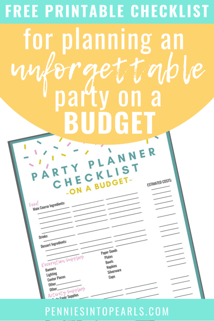 Use this free printable party planner checklist to help you throw an amazing party on a budget! Don't let your party budget stop you from throwing an unforgettable party! These DIY party tips and tricks are going to help you when planning a party on a budget!