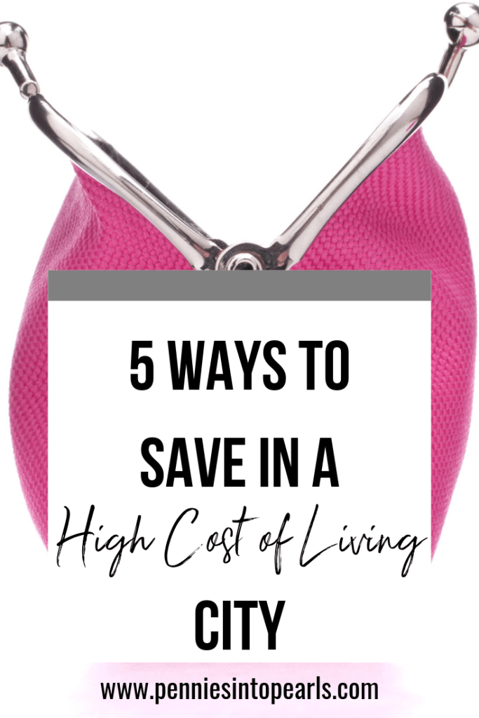 Living in a big city can be expensive. Use these 5 tips to save money in a big city to help cut costs so you can spend your money where you value most. Living in a city with a high cost of living is hard, but using these tips to save money will make it a lot easier!