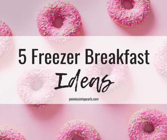 Do you need some make ahead freezer breakfast meals that still tasted great when they are reheated? Here are 5 easy freezer breakfast meal ideas that are kid tested and perfect on the go freezer breakfast meals.