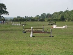 Mini cross-country training field at livery in Harrogate with Pennine View Stud