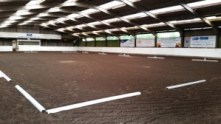 Horse Competitions arena set-up for dressage at the Yorkshire Riding Centre