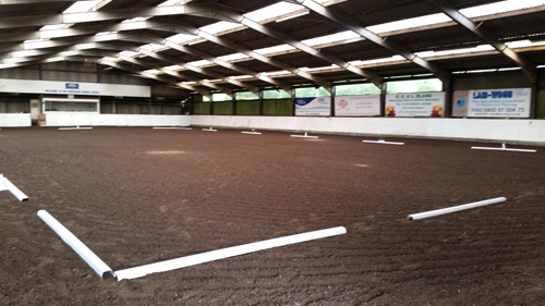 Unaffiliated Dressage Indoor arena at the Yorkshire Riding Centre
