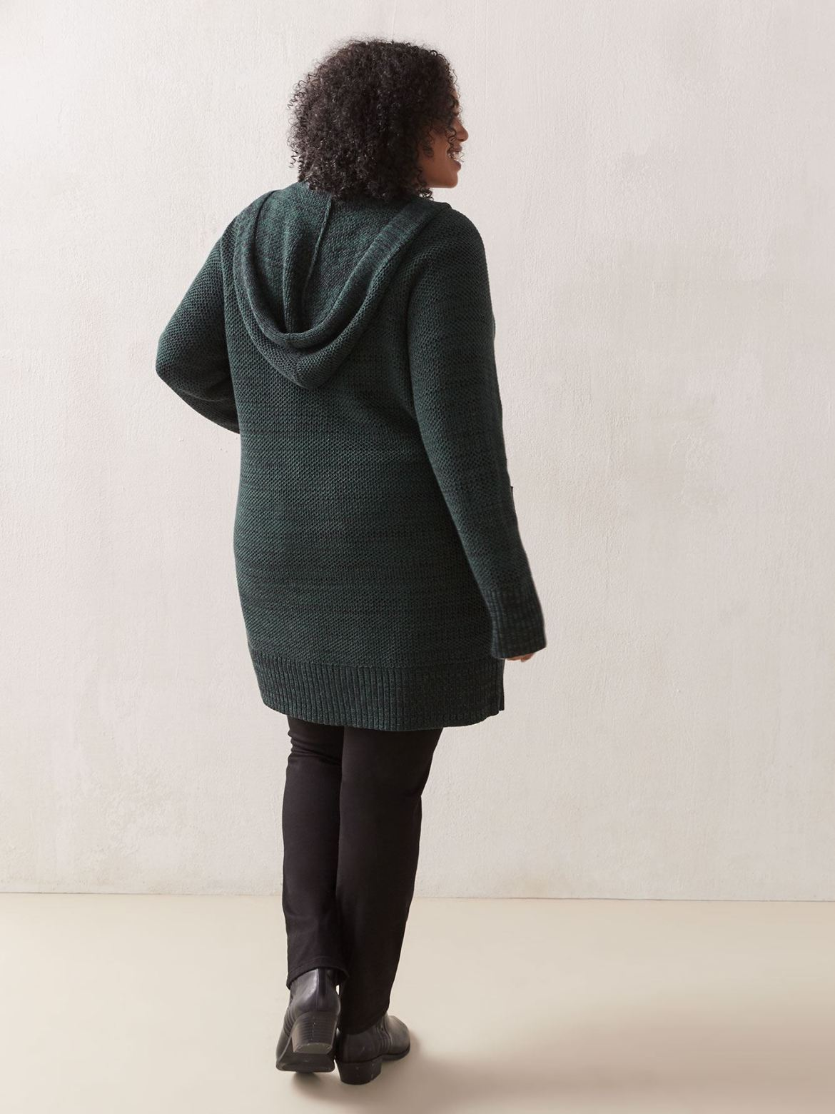 Cotton Long Sleeve Hooded Cardigan - In Every Story