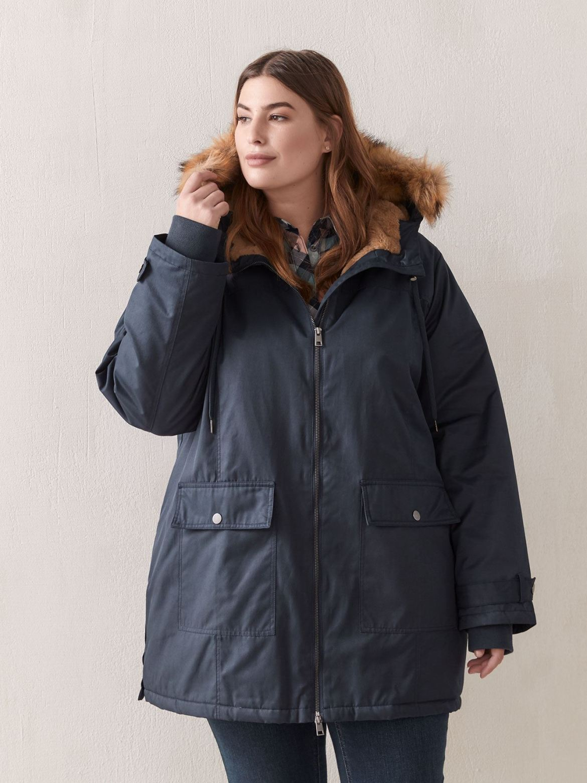 Parka Jacket With Fur Hood - In Every Story